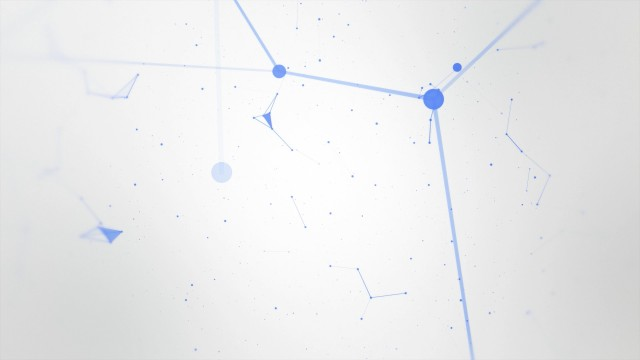 Blue abstract geometry animation with seamless Loop