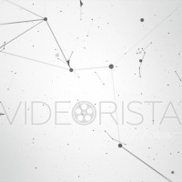 Black abstract geometry animation with seamless Loop