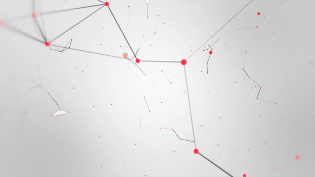 Red and Black abstract geometry animation with seamless Loop