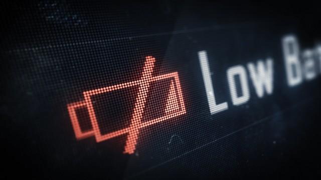 Low Battery warning on Digital LED Screen