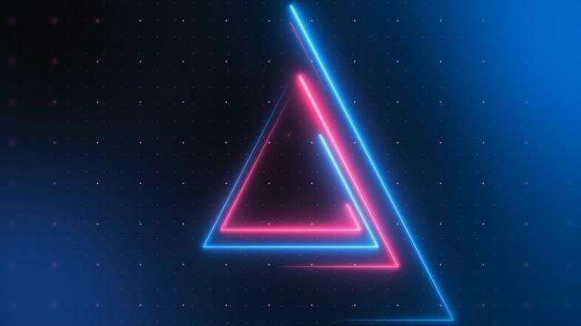 Triangular Neon Streaks Techno Loop