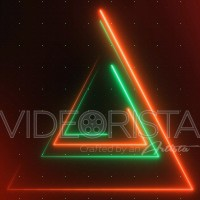 Red and Green Strobe Lights with Triangular Shapes and Grid