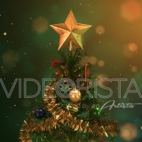 Christmas tree animation with beautiful ornaments and Golden Star