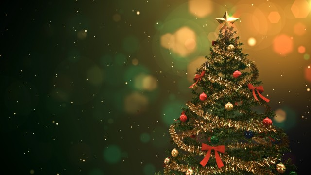 Christmas tree intro with place for titles