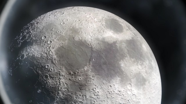 The Moon seen from Earth Telescope