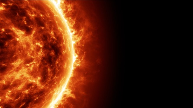 Realistic Sun Surface Animation with Solar Flares